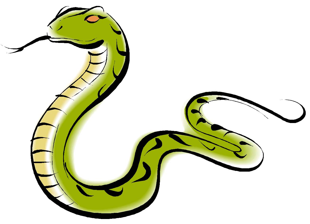 1306x945 Cute snake clipart black and white free clipart 2