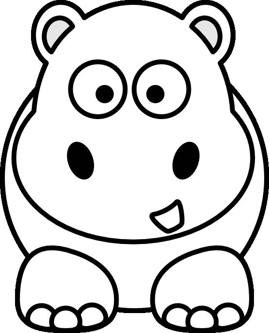 555x685 Hippo Clip Art Black And White Clipart Panda