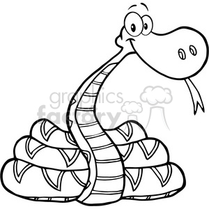 300x300 Royalty Free 5121 Snake Cartoon Character Royalty Free Rf Clipart