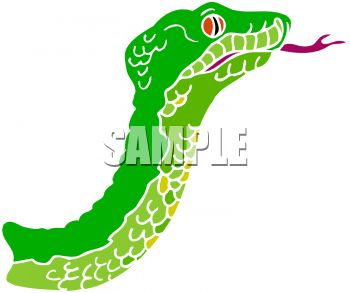 350x293 Picture Of A Green Snake With His Tongue Sticking Out In A Vector