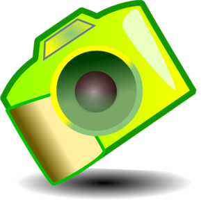 299x294 Yellow Camera Clip Art