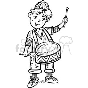 300x300 Royalty Free Boy Playing The Snare Drum 381518 Vector Clip Art