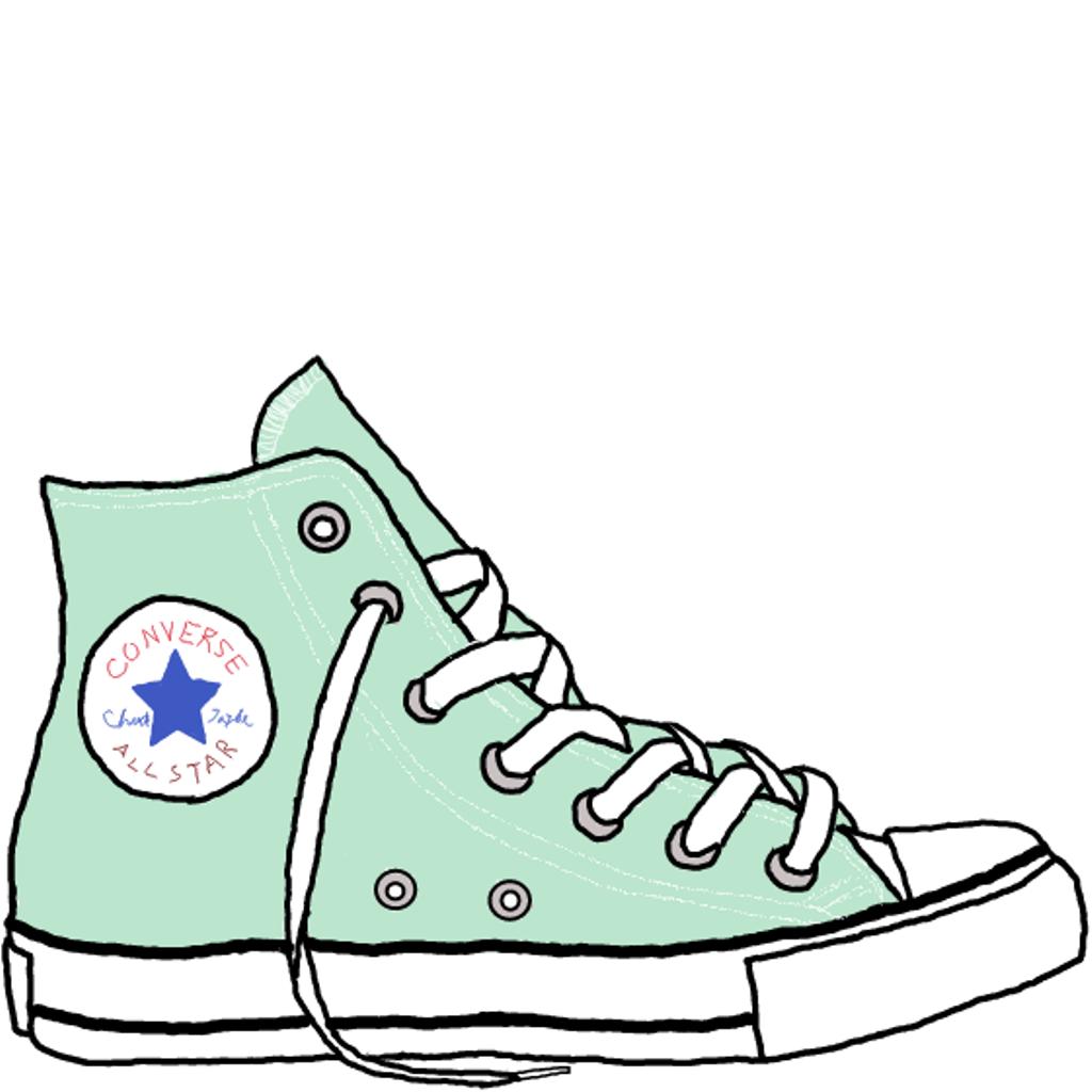 ede45038efbe 1024x1024 Drawn Sneakers Clip Art
