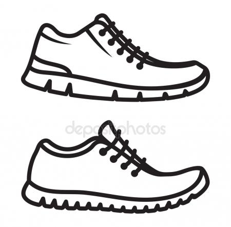 450x442 Running Shoe Print Stock Vectors, Royalty Free Running Shoe Print