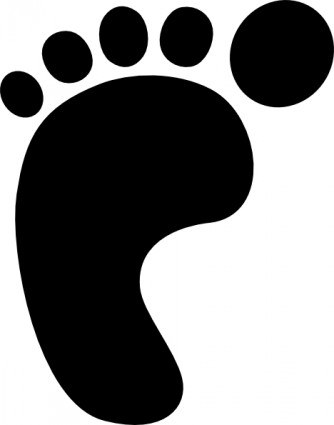334x425 Shoe Print Left Foot Print Clip Art Free Vector In Open Office