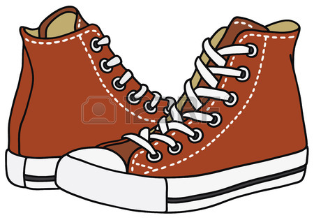 450x315 Hand Drawing Of A Red Sneakers Royalty Free Cliparts, Vectors,