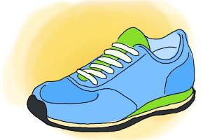 300x200 How To Draw Running Shoes