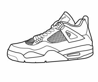 320x267 Jordan Shoes Coloring Sheets