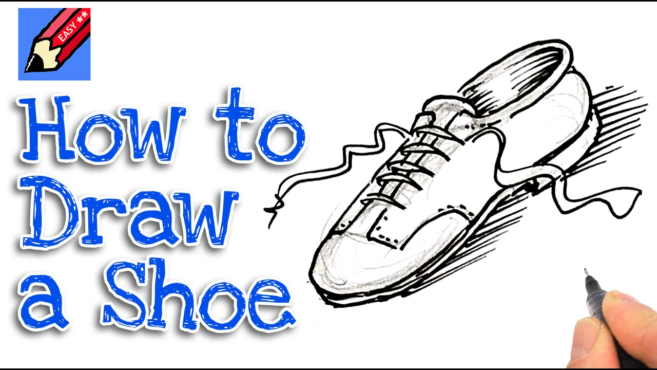 1280x720 Learn How To Draw A Shoe Real Easy For Kids And Beginners