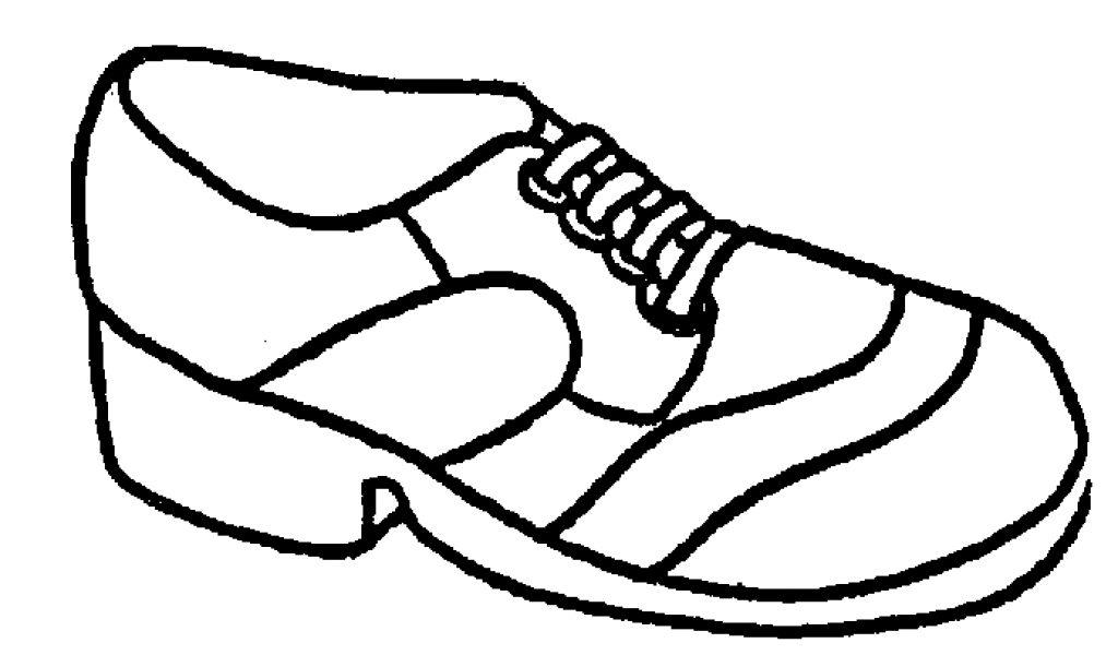 1024x600 Shoe Clipart Line Art