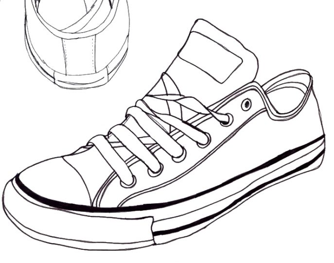 687x541 Shoes Dazzling Sneakers Drawing 6 Sneakers Drawing Sneakers