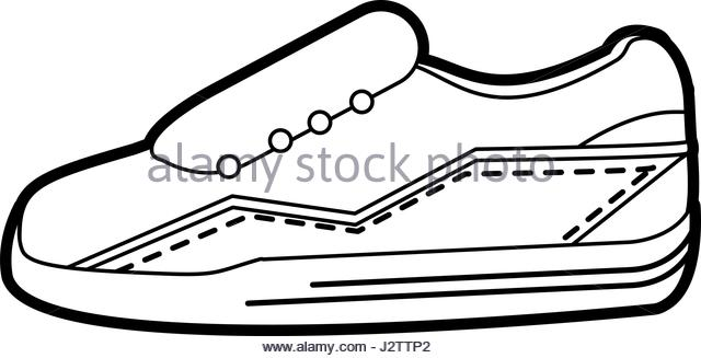 640x327 Sneakers Shoes Vector Drawing Illustration Stock Photos Amp Sneakers