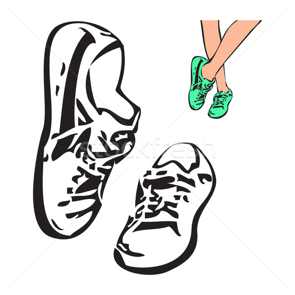 600x600 Sneakers Stock Vectors, Illustrations And Cliparts Stockfresh