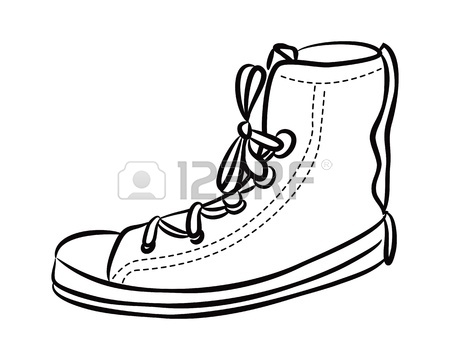 450x360 Sport Shoes ,hand Drawing, Vector Icon Royalty Free Cliparts