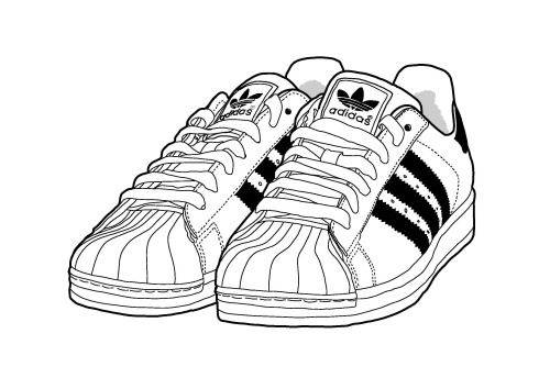 Sneakers Drawing