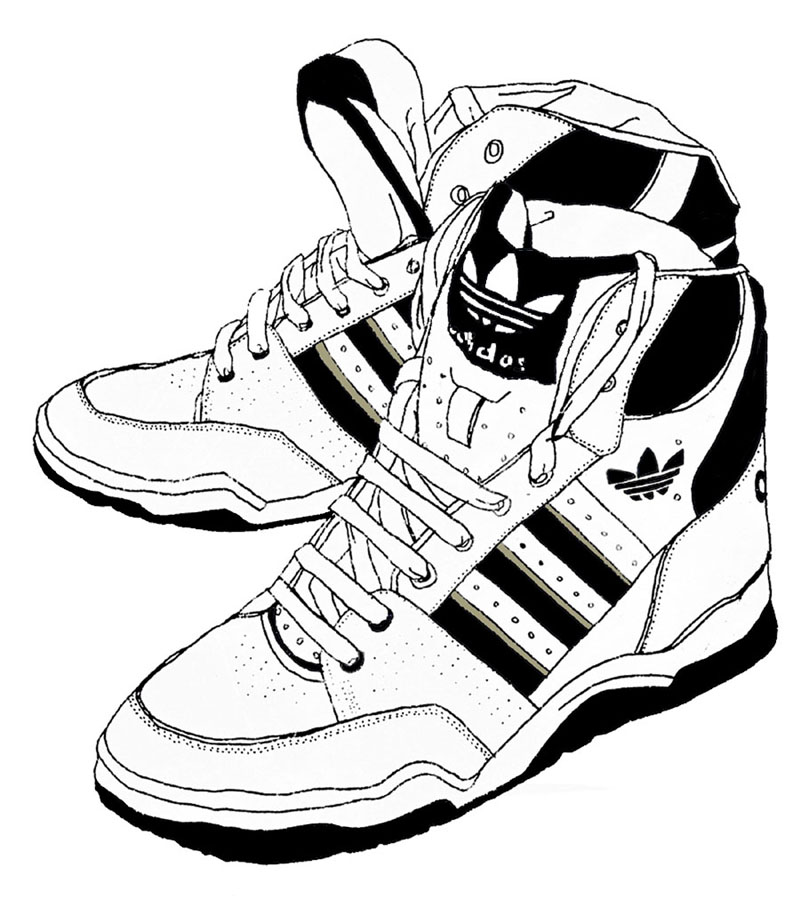 800x915 Sneakers Drawing