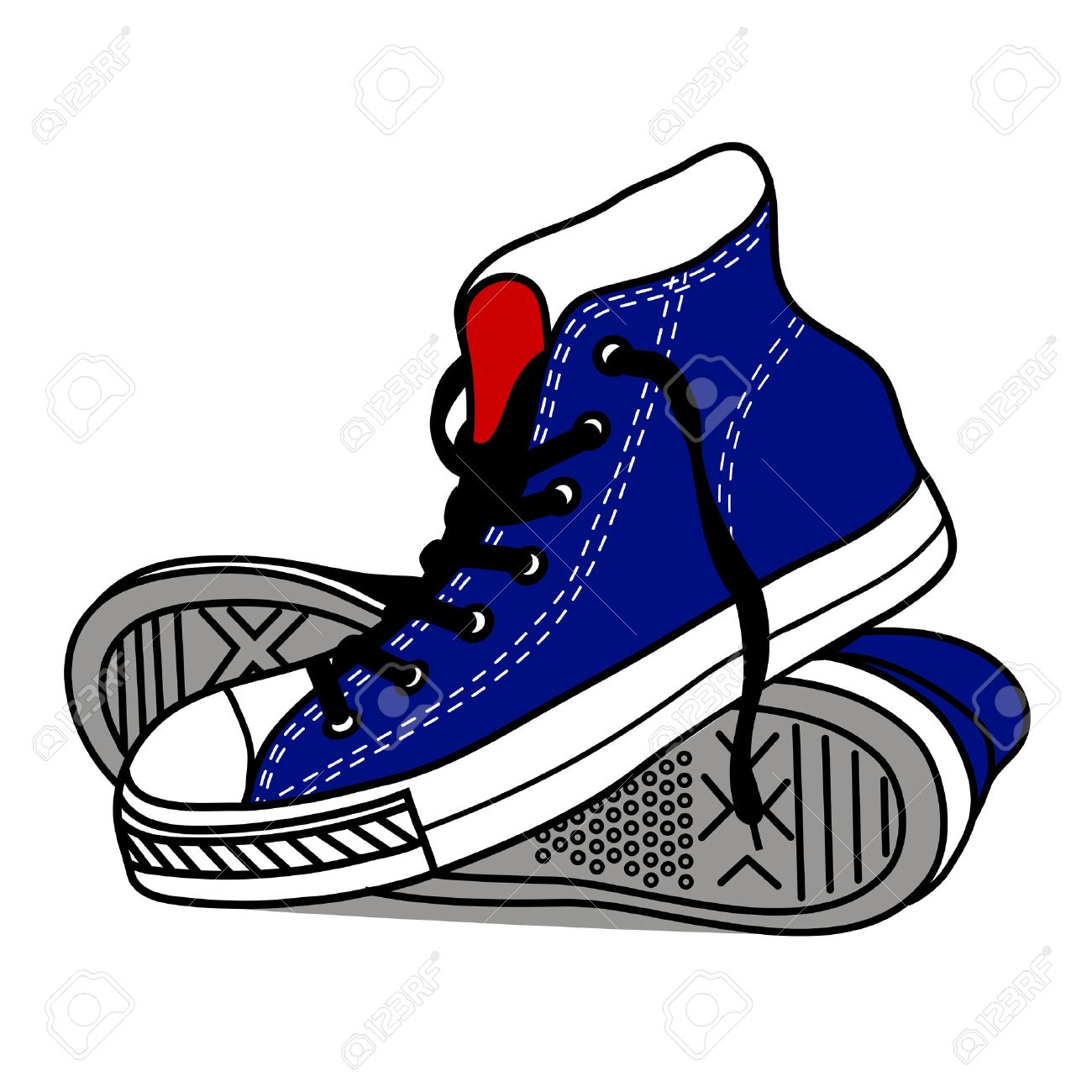 1300x1300 Drawing Old Athletic Shoes Royalty Free Cliparts, Vectors,