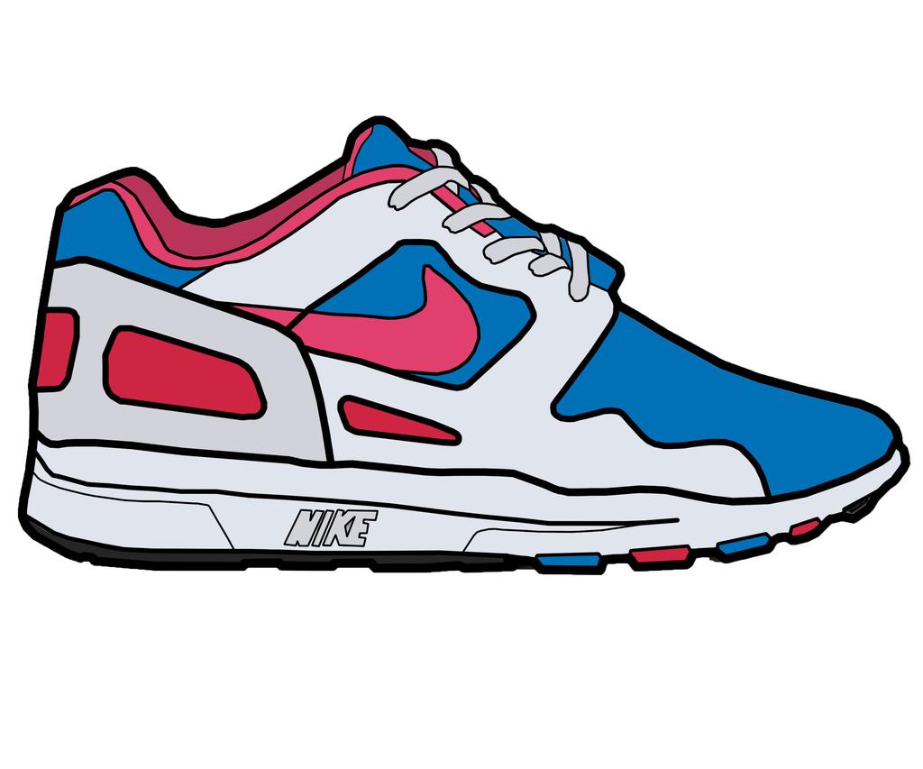 1024x853 Drawn Sneakers Clip Art