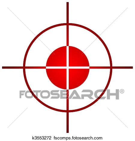 450x469 Clip Art Of Sniper Target Sight Or Scope K3553272