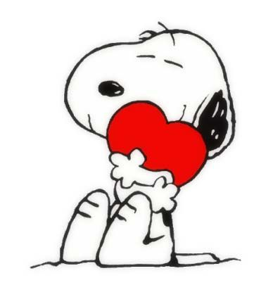 388x422 Heart Clipart Snoopy