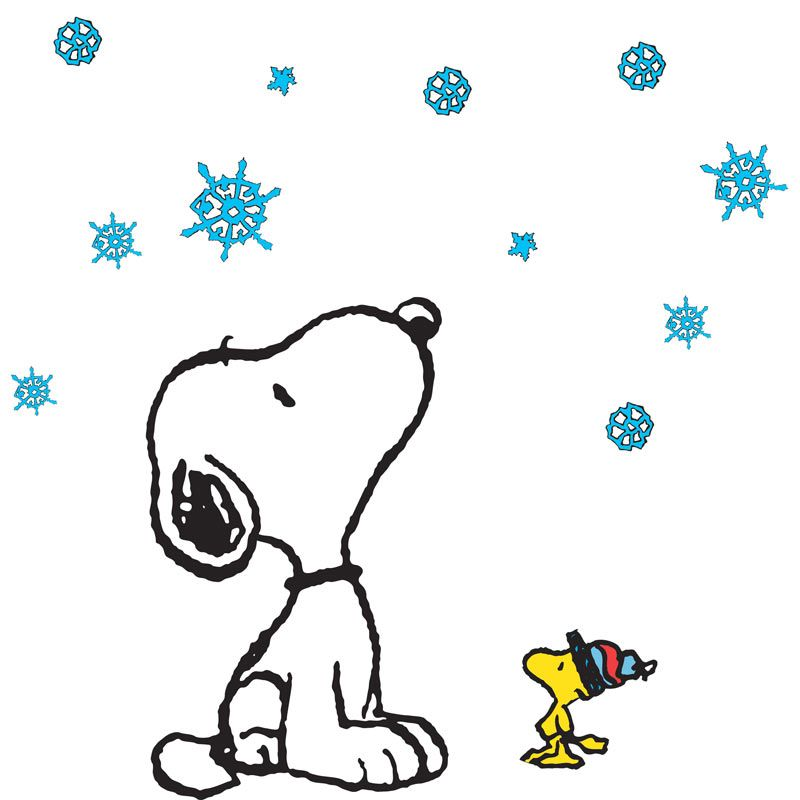 800x800 Snoopy Winter Clipart