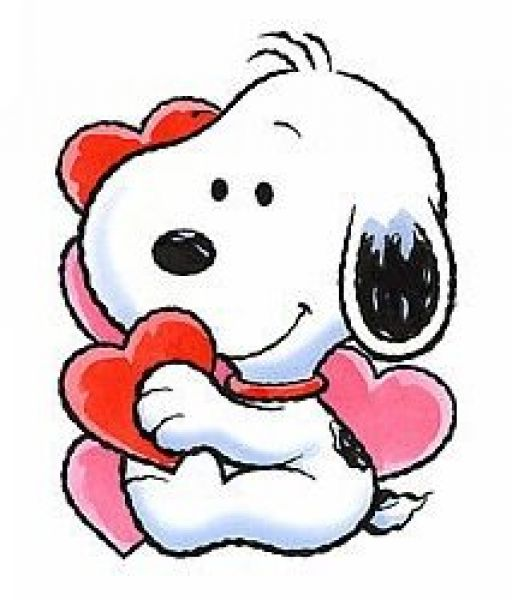512x600 Snoopy Clipart Heart