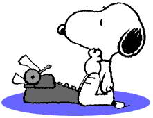 221x170 Snoopy Clipart Typing