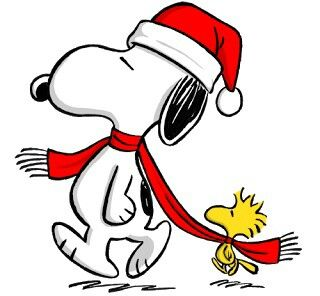 320x296 Merry Christmas Dear Readers Snoopy, Charlie Brown And Peanuts Gang