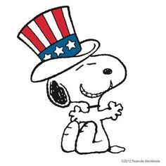 236x236 Patriotic Snoopy Clip Art