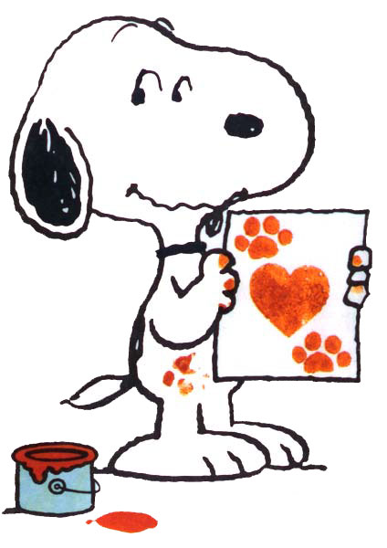 424x600 Snoopy Clipart