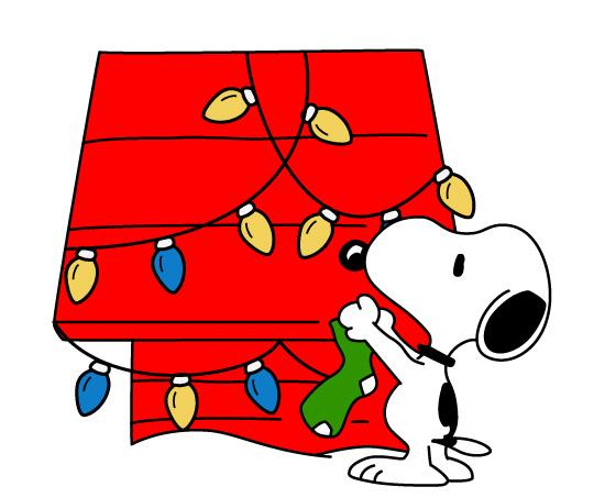 550x453 Snoopy Winter Clip Art