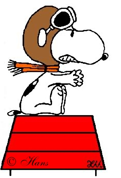 407x600 Snoopy Red Baron Clipart