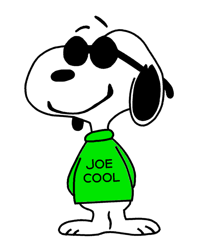 700x770 Joe Cool Being Cool Charlie Brown Christmas Snoopy