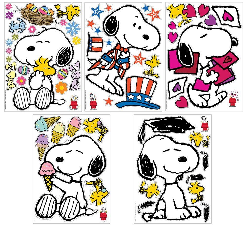 1000x912 Eureka Peanuts Spring Summer Snoopy Poses Bulletin
