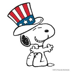 236x236 Snoopy clipart patriotic