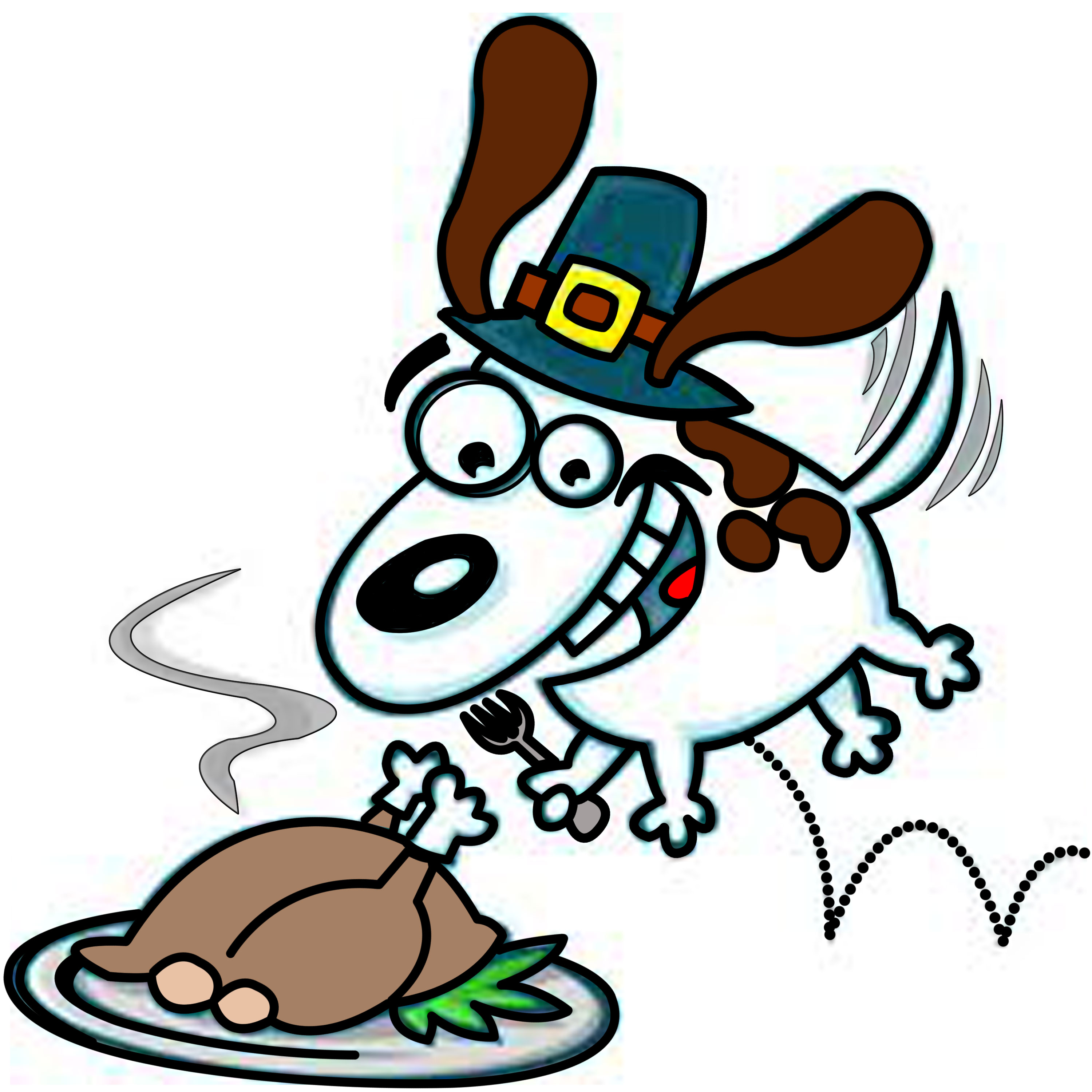 3000x3000 Dog Thanksgiving Clip Art Cliparts