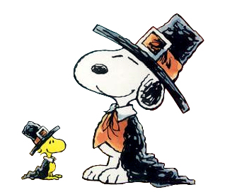 318x271 Snoopy Thanksgiving Clip Art