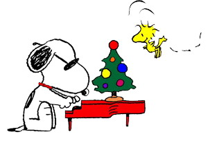 300x204 Christmas Snoopy Clip Art Image