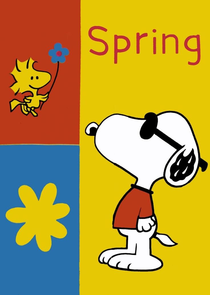 736x1034 Snoopy And Woodstock Spring Clipart