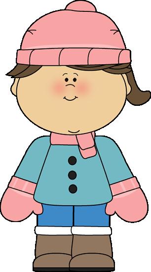 306x550 Little Winter Girl Clip Art