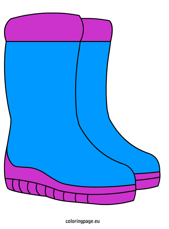595x804 Snow Boots Coloring Page