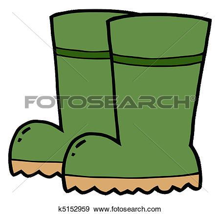 450x438 Wellington Boots Clipart