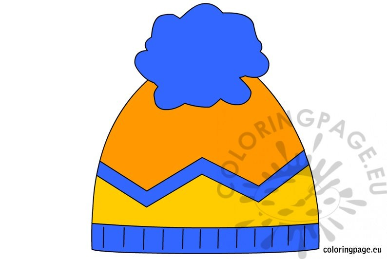 794x532 Winter Hat Coloring Page