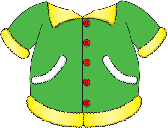 560x427 Winter Jacket Clipart Image
