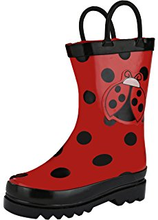 230x320 Kidorable Red Ladybug Natural Rubber Rain Boots
