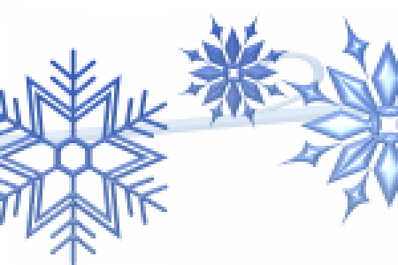450x300 Clip Art Snow Banner