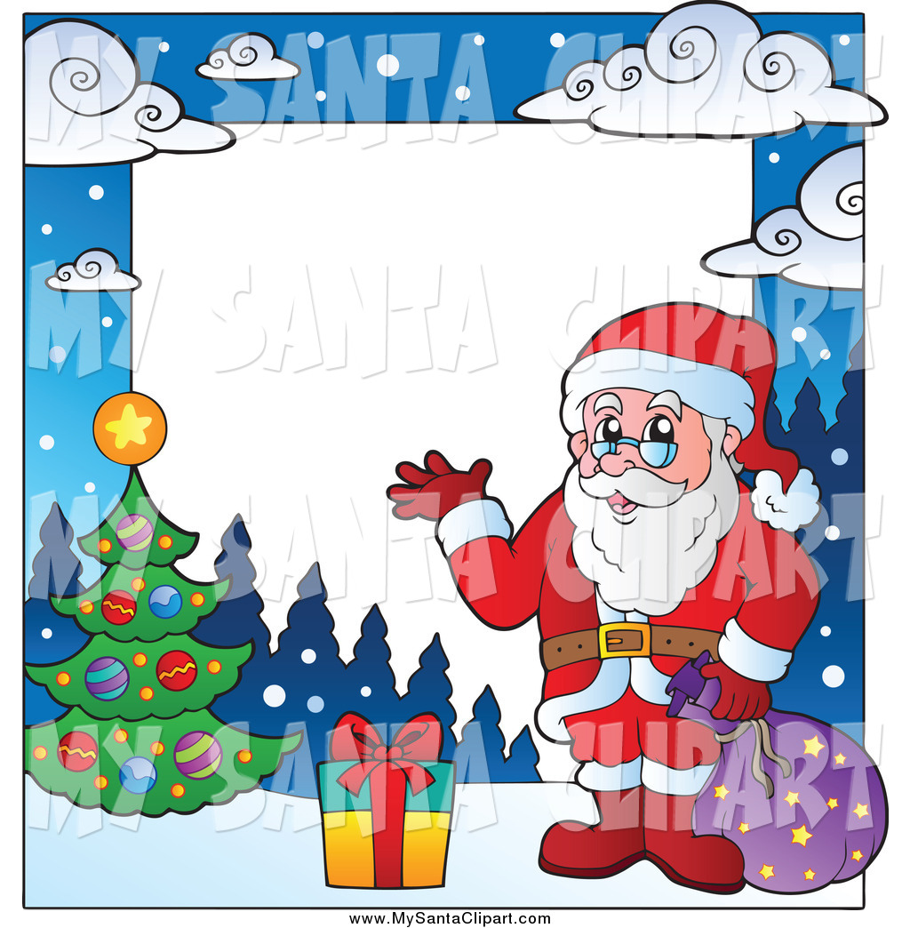 1024x1044 Royalty Free Stock Santa Designs Of Christmas Borders