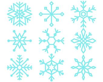 340x270 Snow Flake Clip Art Etsy