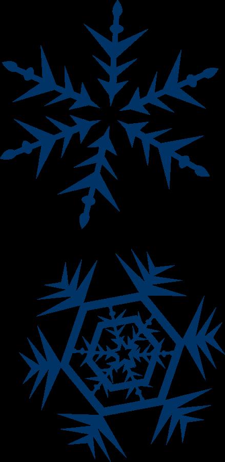 439x900 Snowflake Border Clipart