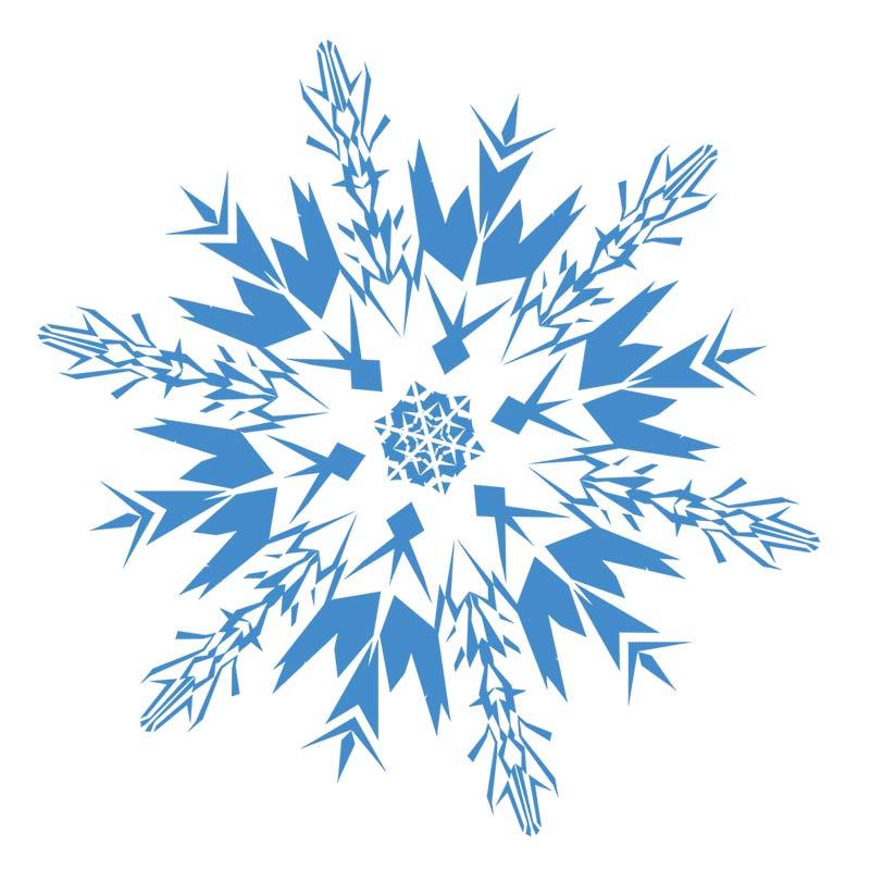 800x800 Snowflakes Snowflake Clipart Black And White Free